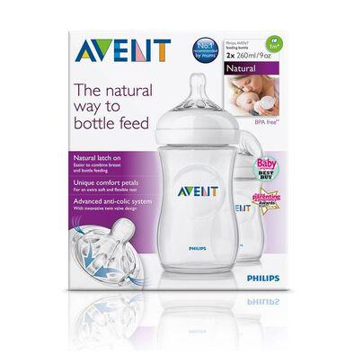 Philips Avent Natural 2-Pack 260ml Feeding Bottle (F693/27)