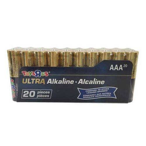 """Toys""""R""""Us Ultra Alkaline AAA Battery 20 Pieces Pack"""