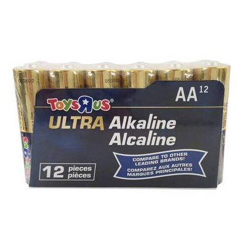 """Toys""""R""""Us Ultra Alkaline AA Batteries 12 Pieces"""