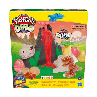 Play-Doh Slime Dino Crew Lava Bones Island