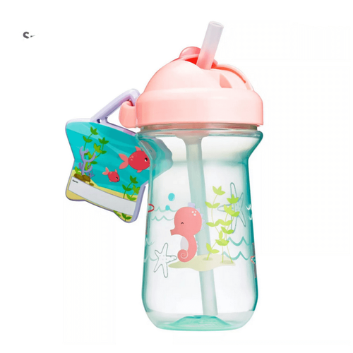 The First Years Flip Top Straw Cup 10oz - Pink