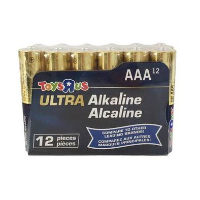 """Toys""""R""""Us Ultra Alkaline AAA Batteries 12 Pieces"""
