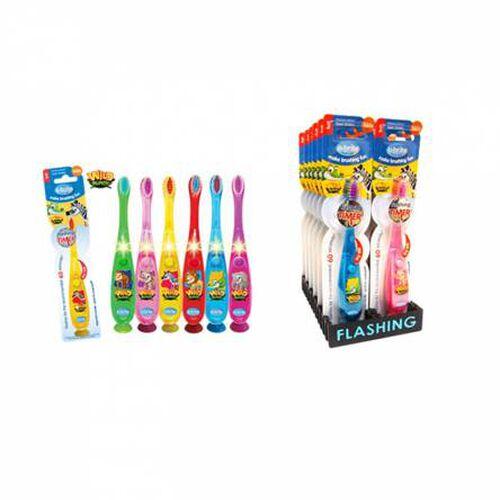 B Brite Brush Right Wave Flashing Toothbrush:Wild Bunch