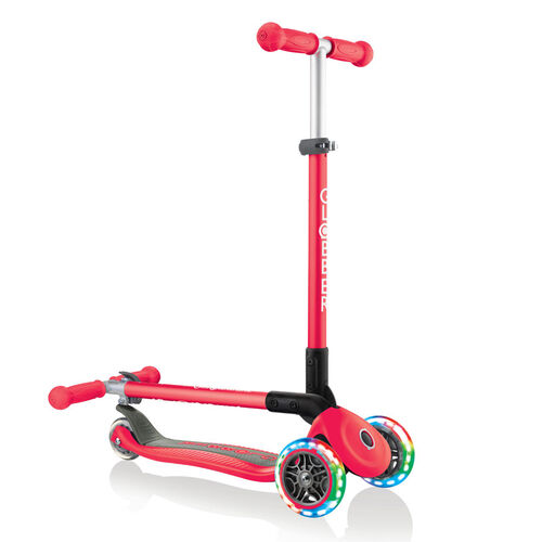 Globber Primo Foldable Lights Red Scooter