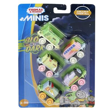 Thomas & Friends Neon Glow In The Dark Minis 5-Pack - Assorted